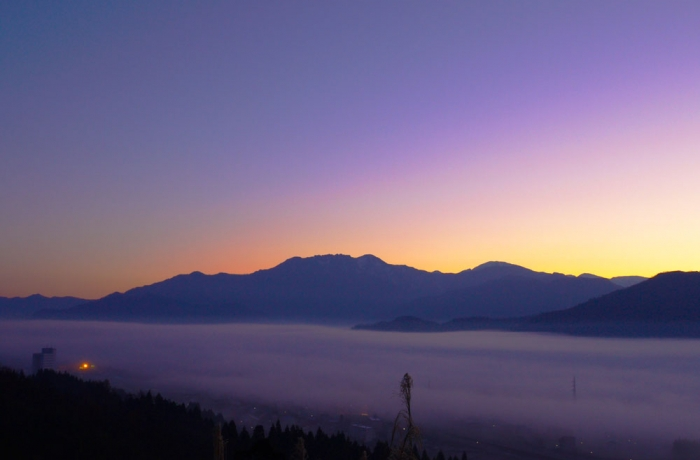 八海山の朝